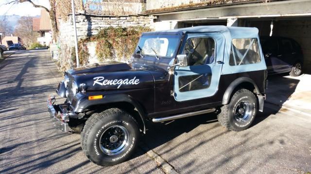 jeep cj 7 v8 renegade quadra drive occasion chf 23 39 900. Black Bedroom Furniture Sets. Home Design Ideas